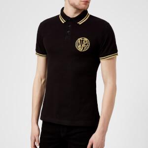 Versace Jeans Men's Round Logo Polo Shirt - Black