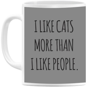 I Like Cats More Than People Mug
