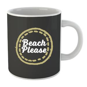 """Taza """"Beach Please"""" - Negro"""