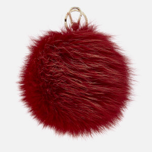 Furla Women's Bubble Pom Pom Keyring - Ruby