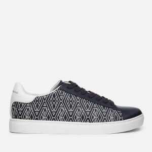 Armani Exchange Men's Low Top Trainers - AX Geometric Navy