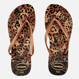 Havaianas Women's Slim Animals Flip Flops - Rust