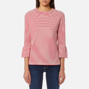 Maison Scotch Women's Clean Flared Short Sleeve T-Shirt - Red