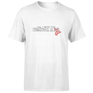 All I Want For Christmas Is Gin T-Shirt - White
