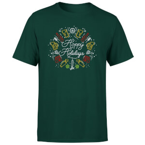 Hoppy Holidays T-Shirt - Forest Green