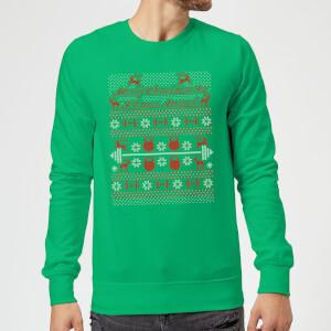 Merry Christmas Ya' Fitness Animal Sweatshirt - Kelly Green