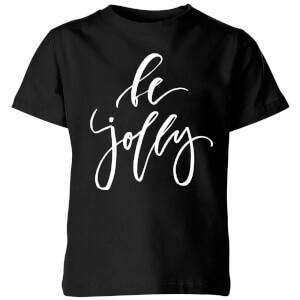 Be Jolly Kids' T-Shirt - Black