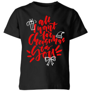 All i want for Christmas Kids' T-Shirt - Black