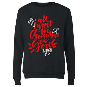 All i want for Christmas Women's Sweatshirt - Black