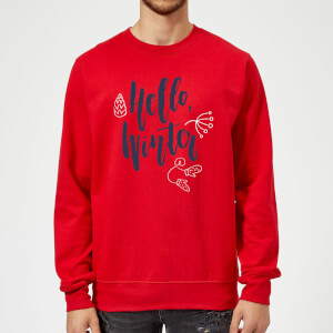 Pull de Noël Homme Hello Winter - Rouge