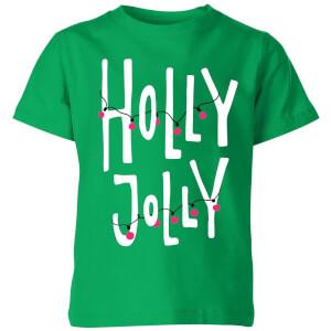 Holly Jolly Kids' T-Shirt - Kelly Green
