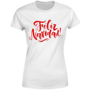 Feliz Navidad Women's T-Shirt - White