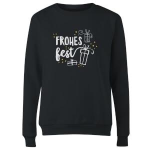 Frohes Fest Women's Sweatshirt - Black