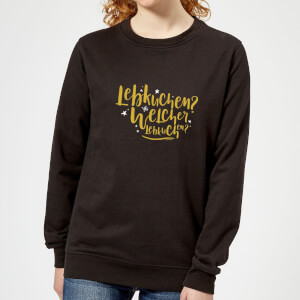 International Lebkiuchen Women's Sweatshirt - Black