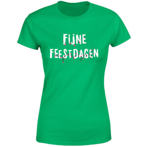 Fijne Feestdagen Women's T-Shirt - Kelly Green