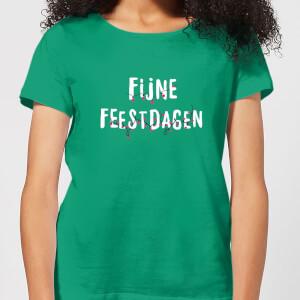 Fijne Feestdagen Women's T-Shirt - Kelly Green