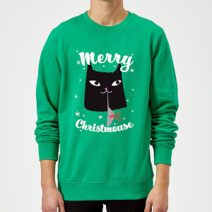Merry Christmouse Sweatshirt - Kelly Green