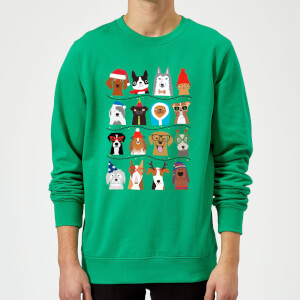 Merry Dogmas Sweatshirt - Kelly Green