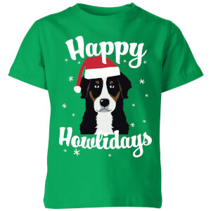 Happy Howlidays Kids' T-Shirt - Kelly Green