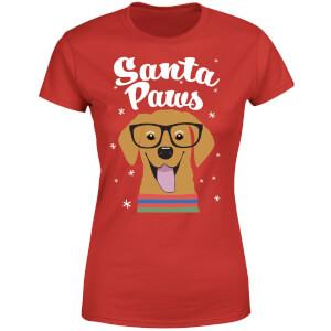 Santa Paws Women's T-Shirt - Red
