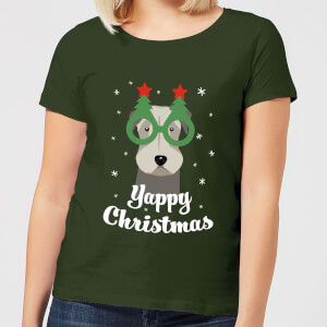 Yappy Christmas Women's T-Shirt - Forest Green
