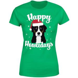 Happy Howlidays Women's T-Shirt - Kelly Green