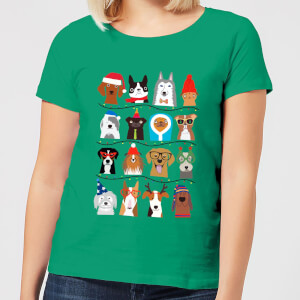 Merry Dogmas Women's T-Shirt - Kelly Green