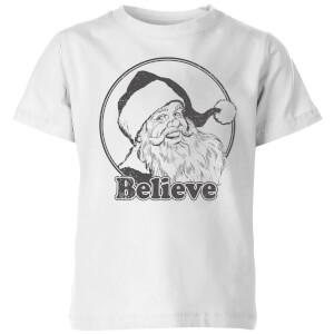 Believe Grey Kids' T-Shirt - White