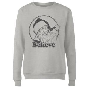 Believe Grey Women's Sweatshirt - Grey