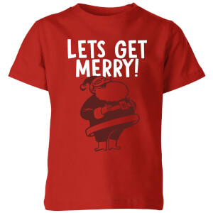 Lets Be Merry Kids' T-Shirt - Red