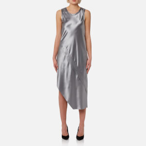 Helmut Lang Women's Lacquered Slip Dress - Grey Pebble