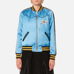 Coach Women's Reversible California Varsity Jacket - Blue/Black Multi