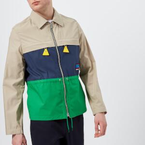 KENZO Men's Colour Block Zip Jacket - Pale Camel