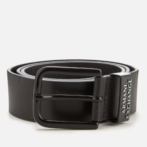 Armani Exchange Men's Leather Belt - Nero