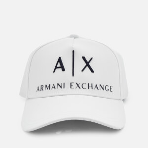 Armani Exchange Men's Logo Cap - Bianco