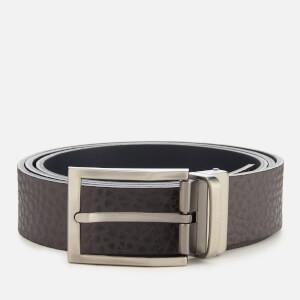 Armani Exchange Men's Branded Belt - Grey/Navy