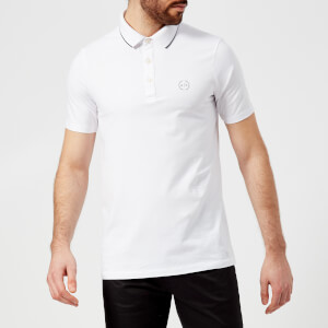 Armani Exchange Men's Small Logo Polo Shirt - White