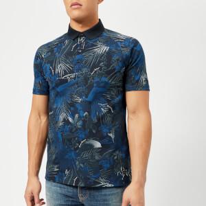 Armani Exchange Men's Printed Polo Shirt - Navy Jungle