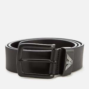 Emporio Armani Men's Vitello Mosso Leather Belt - Nero