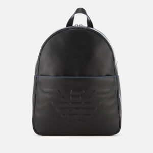 Emporio Armani Men's Logo Backpack - Black