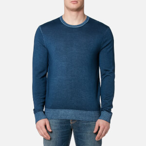 Michael Kors Men's Washed Merino Crew Neck Sweater - Admiral Blue