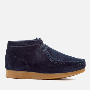 Clarks Originals Kids' Wallabee Boots - Navy Suede: Image 1