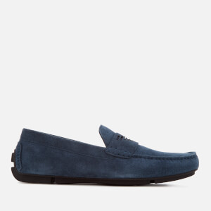 Emporio Armani Men's Suede Driver Shoes - Midnight