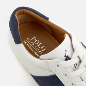 Polo Ralph Lauren Men's Price Nappa/Suede Low Profile Trainers - White/Indigo/Ivory: Image 4