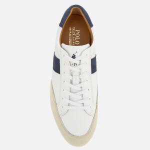 Polo Ralph Lauren Men's Price Nappa/Suede Low Profile Trainers - White/Indigo/Ivory: Image 3