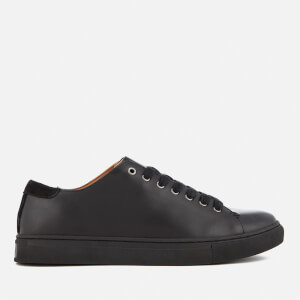 Polo Ralph Lauren Men's Jermain Leather Cupsole Trainers - Black