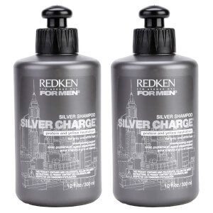 Redken For Men Silver Charge Shampoo Duo (2 x 300ml)