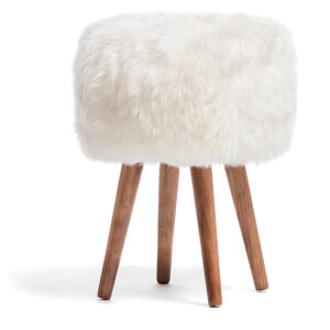 Royal Dream Natural Sheepskin Stool