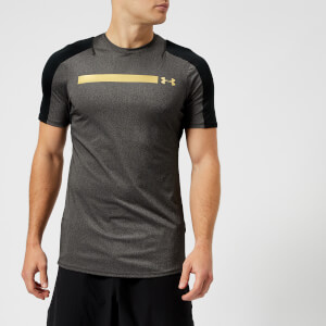 Under Armour Men's Perpetual Fitted Short Sleeve T-Shirt - Black/Metallic Gold