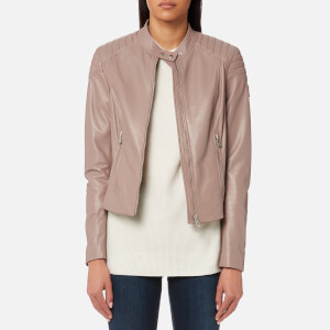 Belstaff Women's Mollison Leather Biker Jacket - Ash Rose